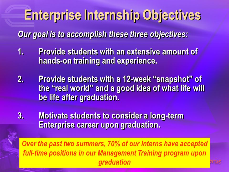 Enterprise Internship Objectives