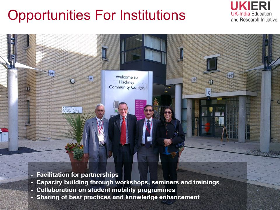Opportunities For Institutions