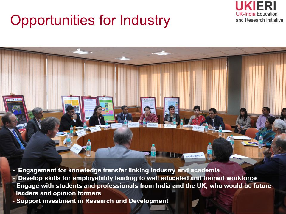 Opportunities for Industry