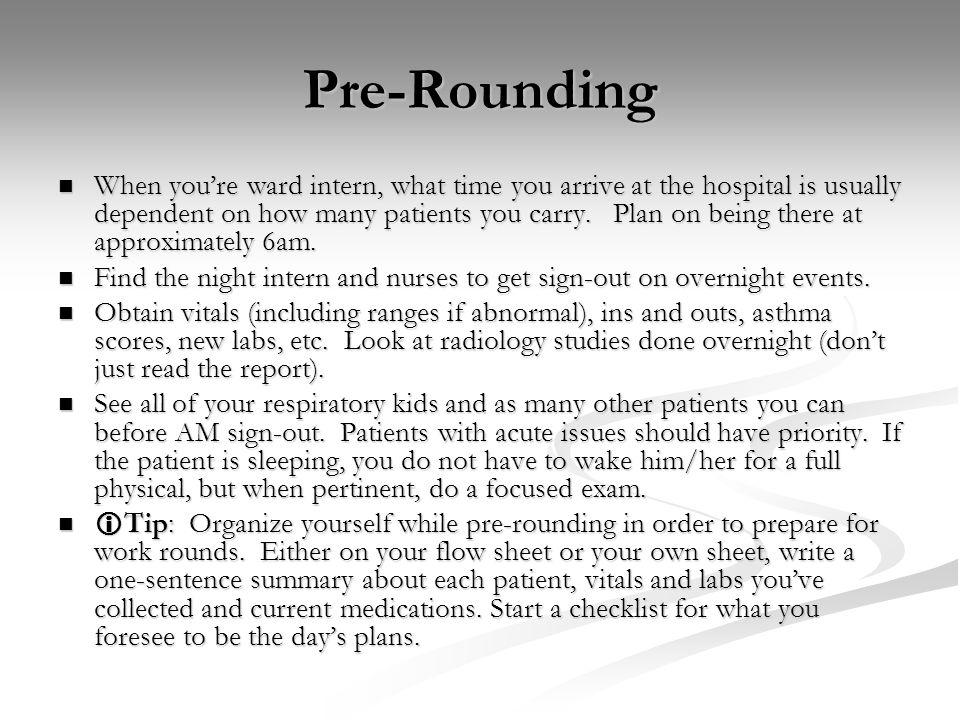 Pre-Rounding