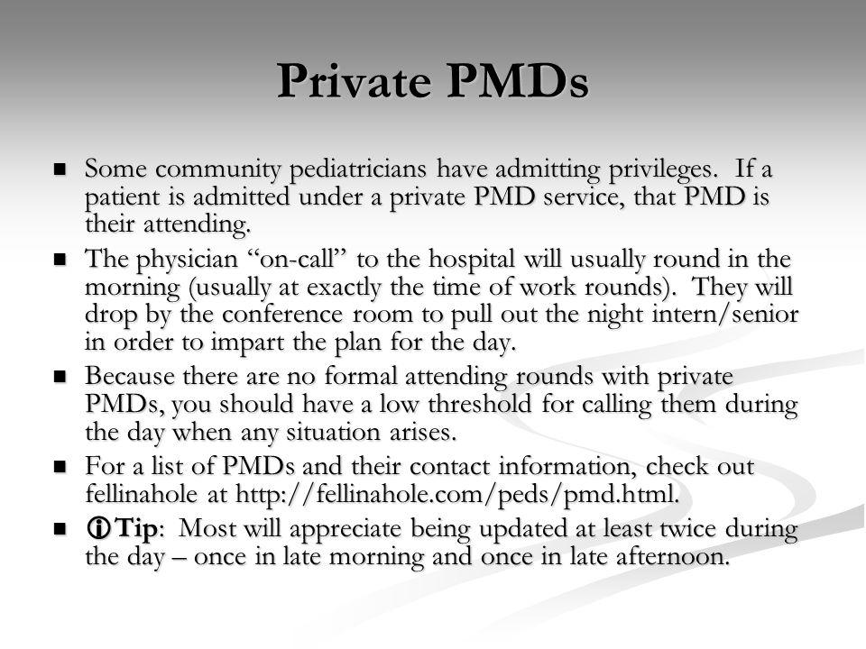 Private PMDs