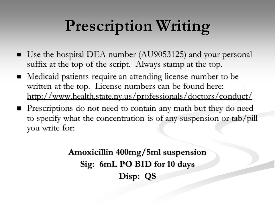 Amoxicillin 400mg/5ml suspension