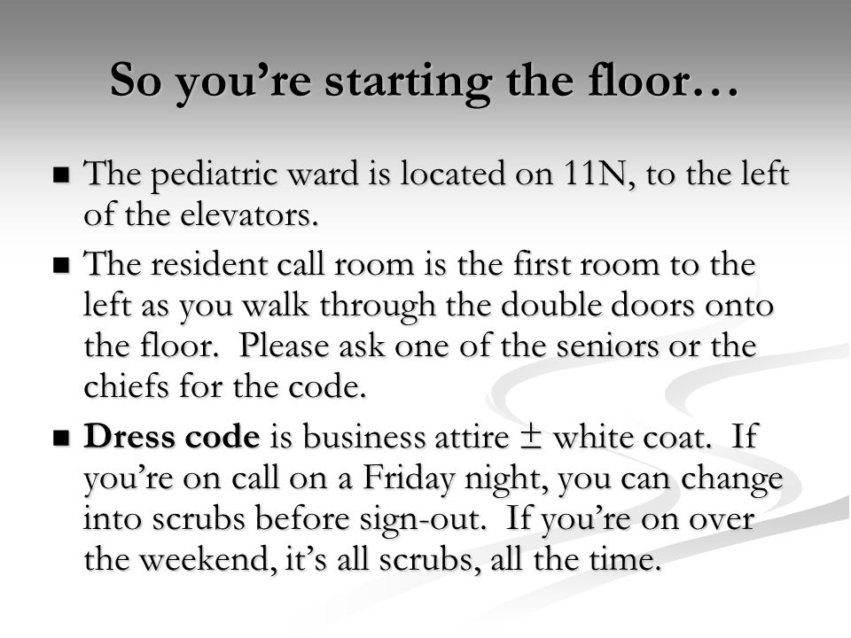 So you're starting the floor…