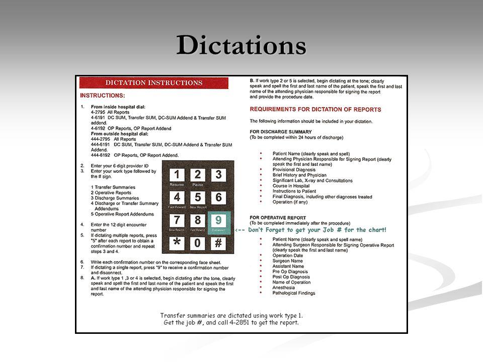 Dictations