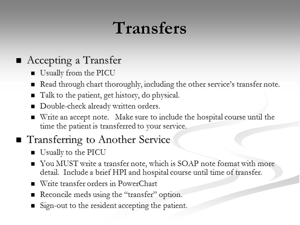 Transfers Accepting a Transfer Transferring to Another Service