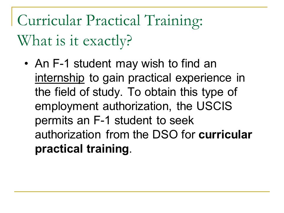 Curricular Practical Training: What is it exactly