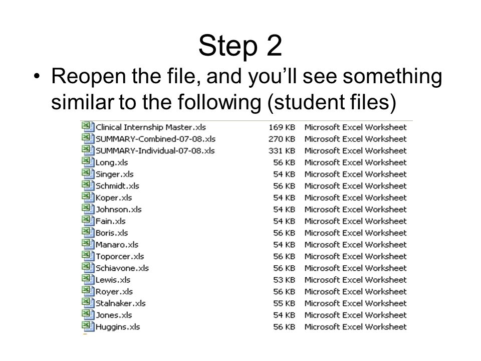Step 2 Reopen the file, and you'll see something similar to the following (student files)