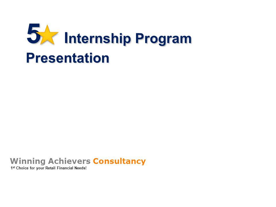 5 Internship Program Presentation