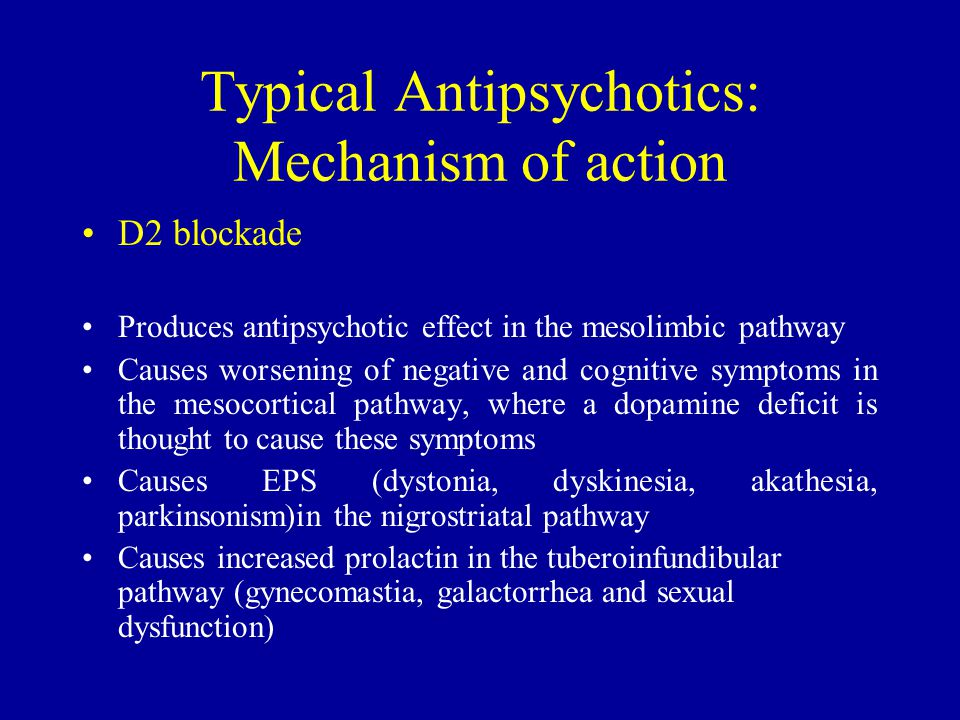 Typical Antipsychotics: Mechanism of action