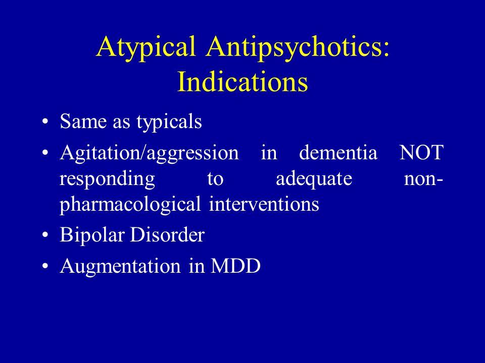 Atypical Antipsychotics: Indications