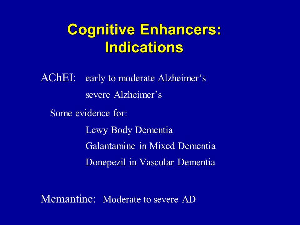 Cognitive Enhancers: Indications