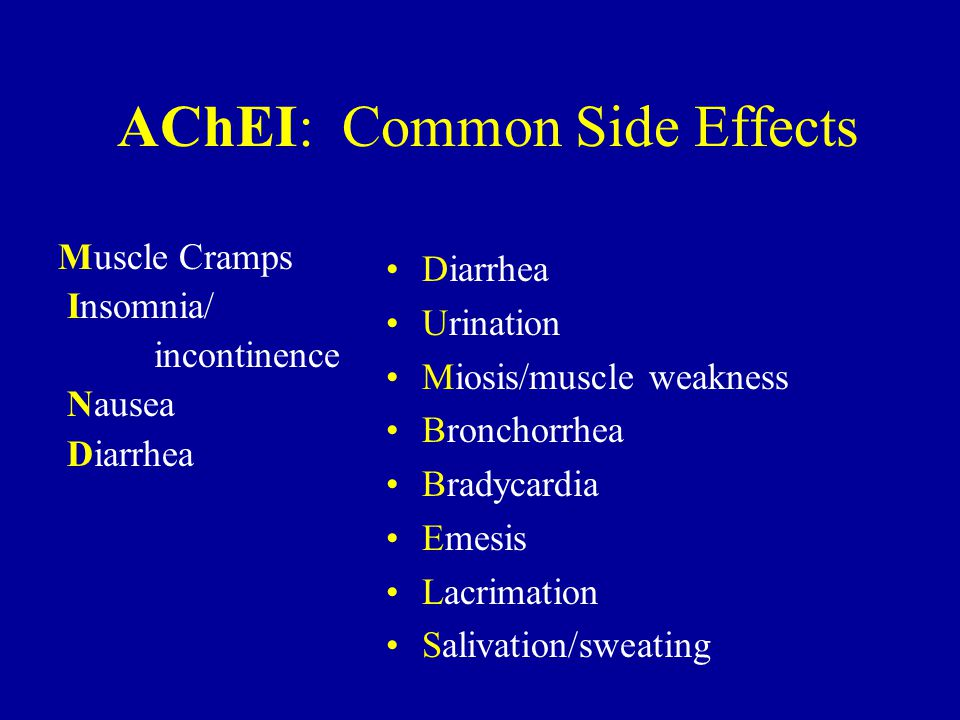 AChEI: Common Side Effects