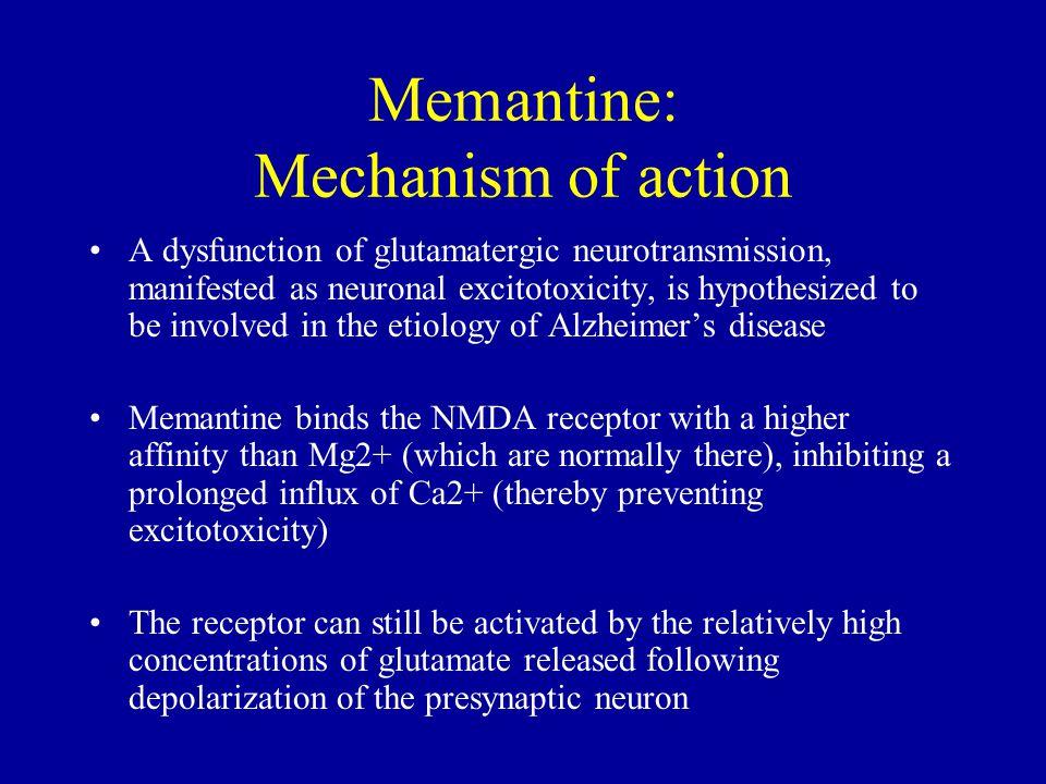Memantine: Mechanism of action