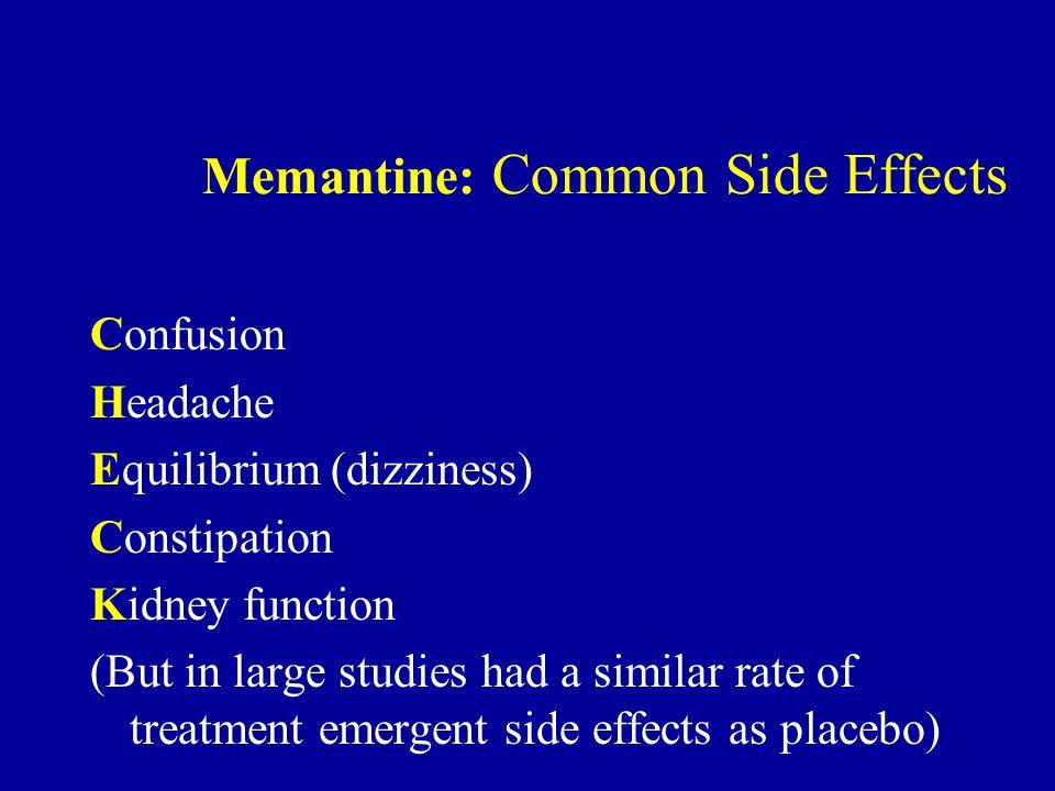 Memantine: Common Side Effects
