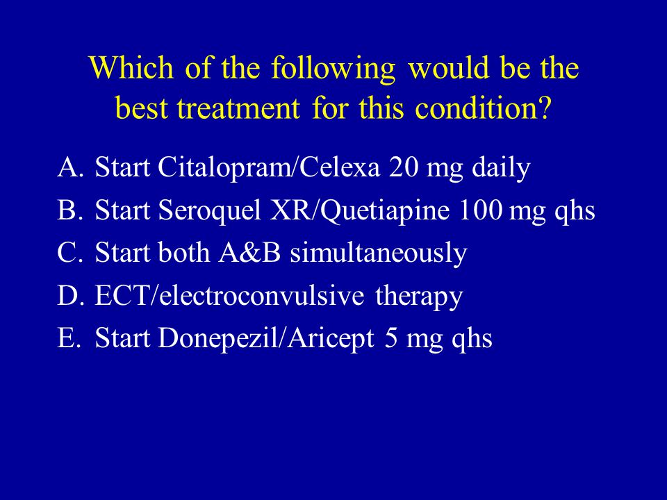 Which of the following would be the best treatment for this condition