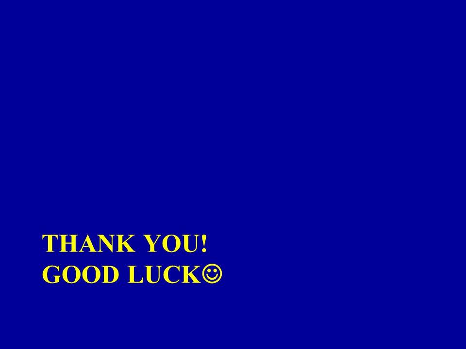 Thank you! Good luck