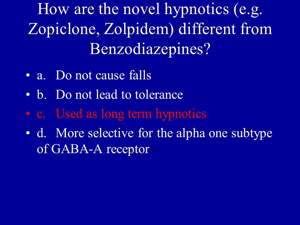 How are the novel hypnotics (e. g