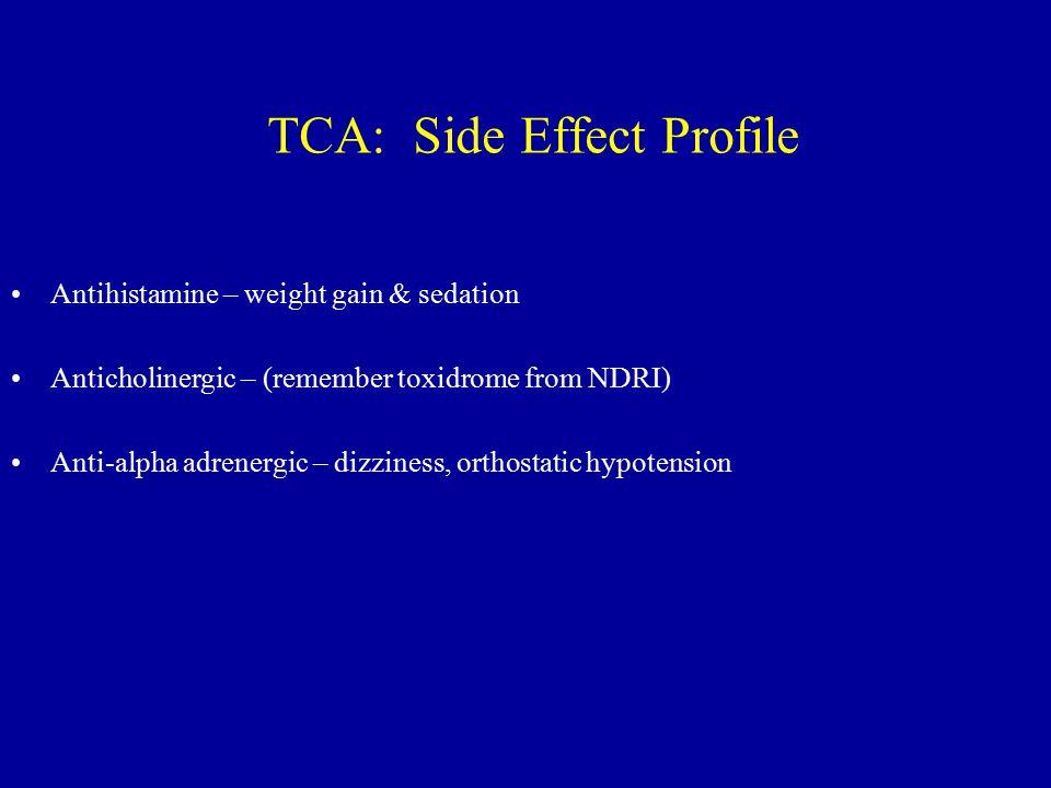 TCA: Side Effect Profile