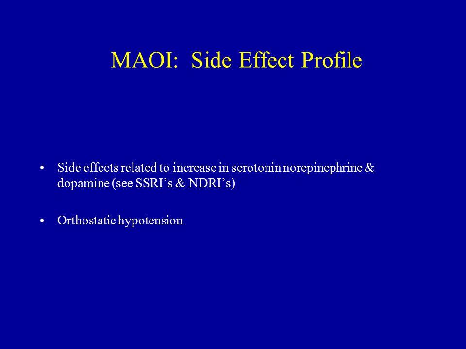 MAOI: Side Effect Profile