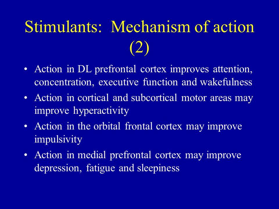 Stimulants: Mechanism of action (2)