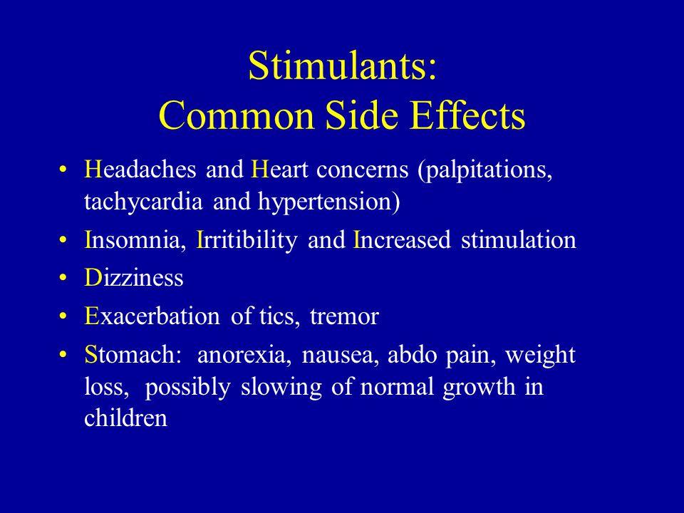 Stimulants: Common Side Effects