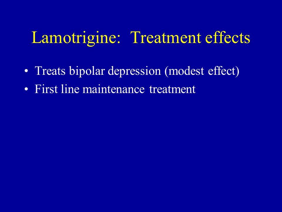 Lamotrigine: Treatment effects