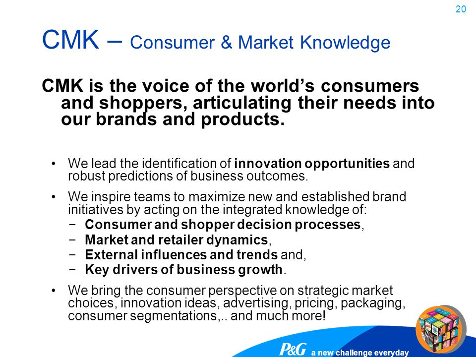CMK – Consumer & Market Knowledge