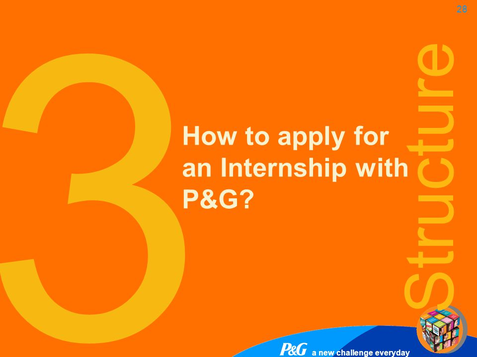 3 How to apply for an Internship with P&G Structure