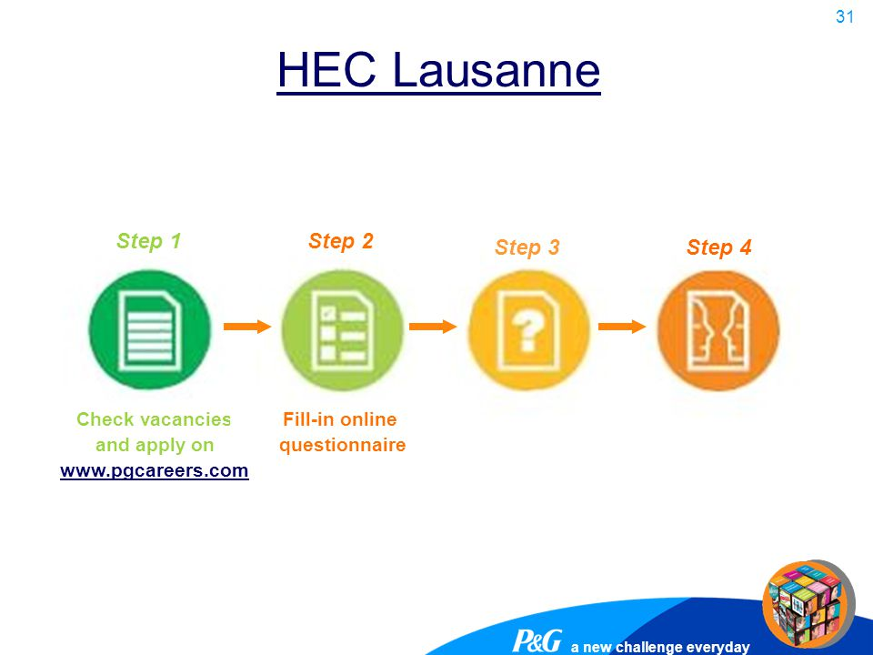 HEC Lausanne Step 1 Step 2 Step 3 Step 4 Check vacancies and apply on