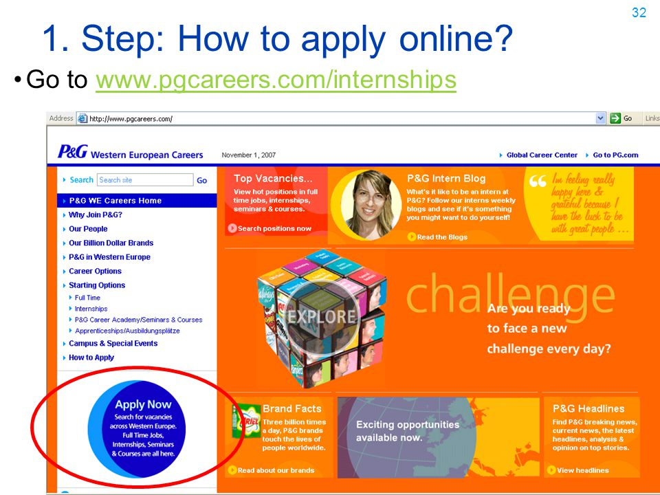 1. Step: How to apply online