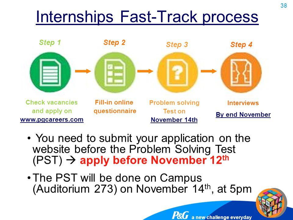 Internships Fast-Track process
