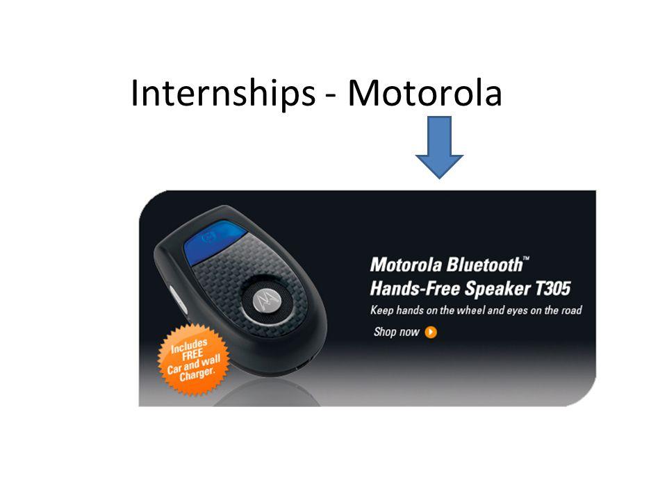 Internships - Motorola