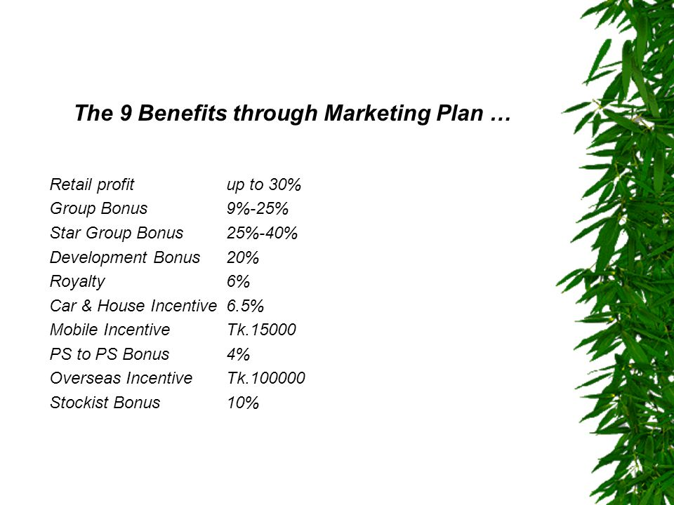 The 9 Benefits through Marketing Plan …