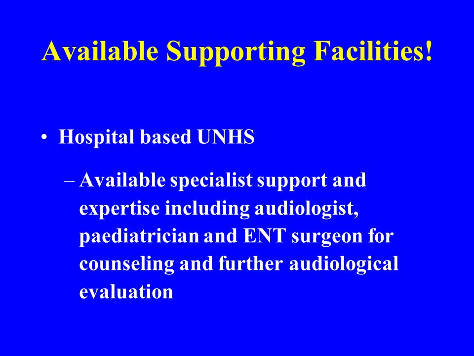 Available Supporting Facilities!