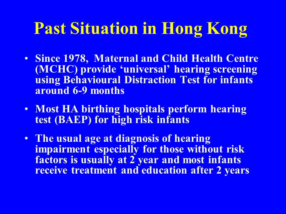 Past Situation in Hong Kong