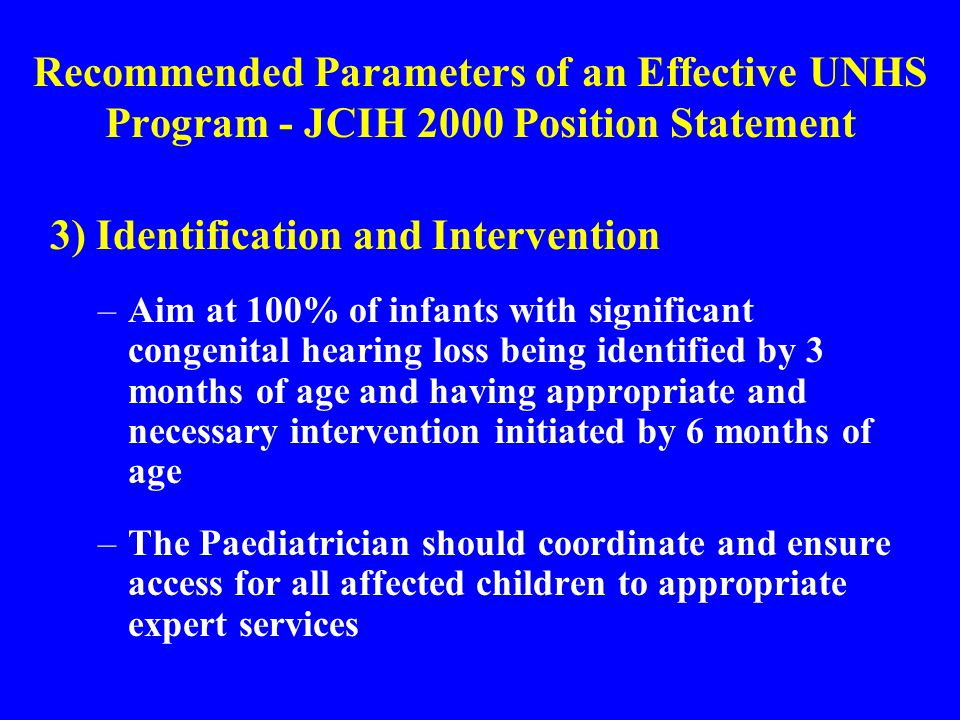 3) Identification and Intervention