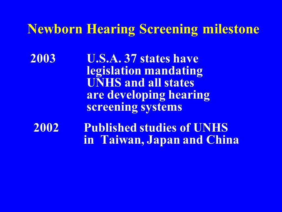 Newborn Hearing Screening milestone