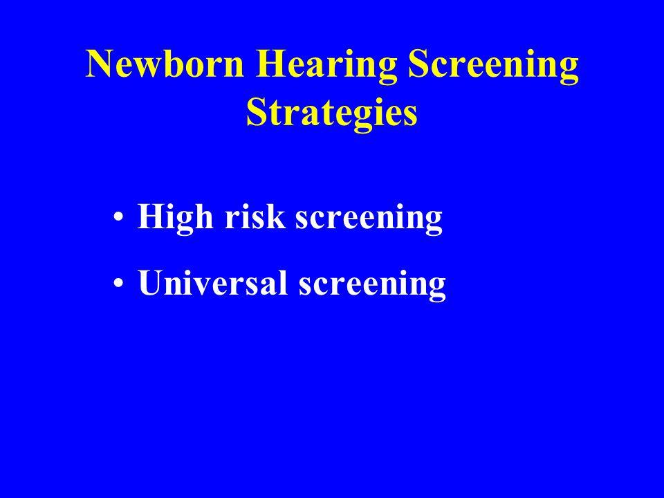 Newborn Hearing Screening Strategies
