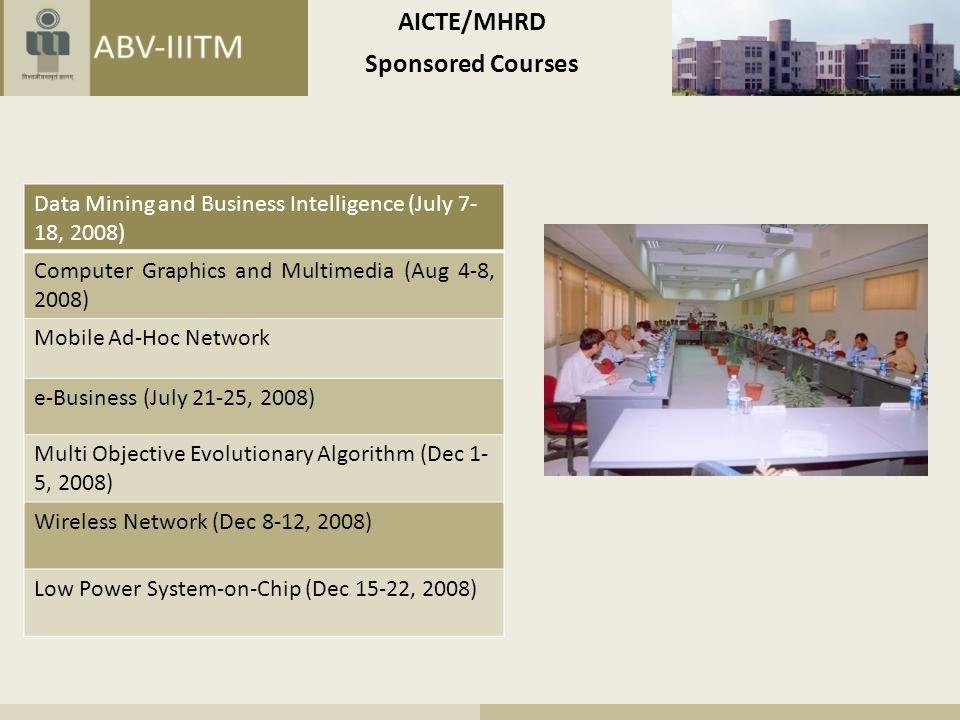 AICTE/MHRD Sponsored Courses