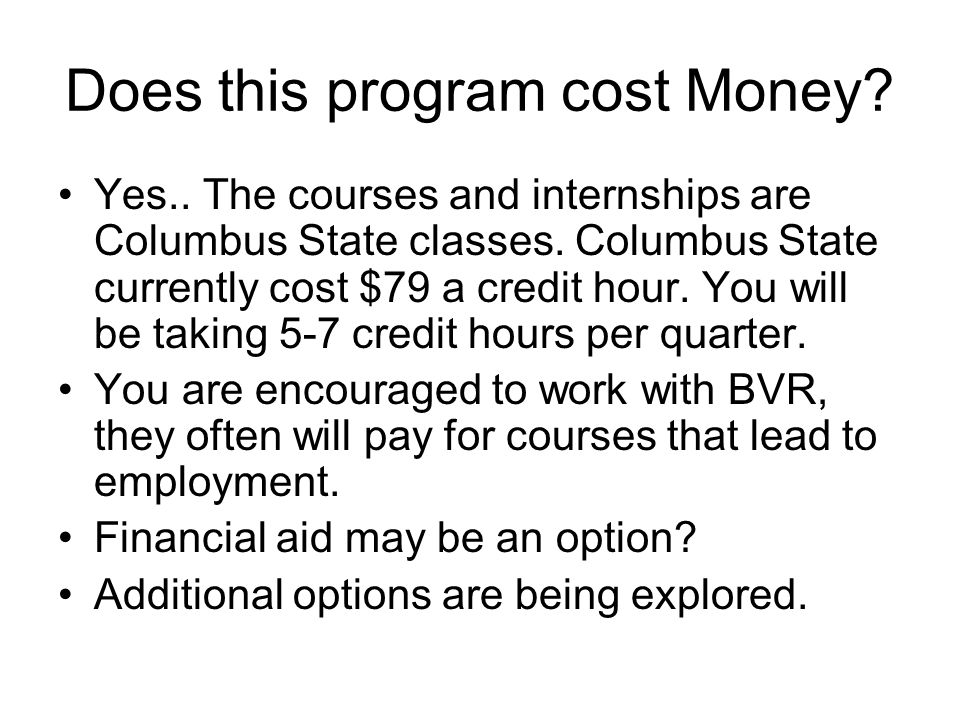 Does this program cost Money
