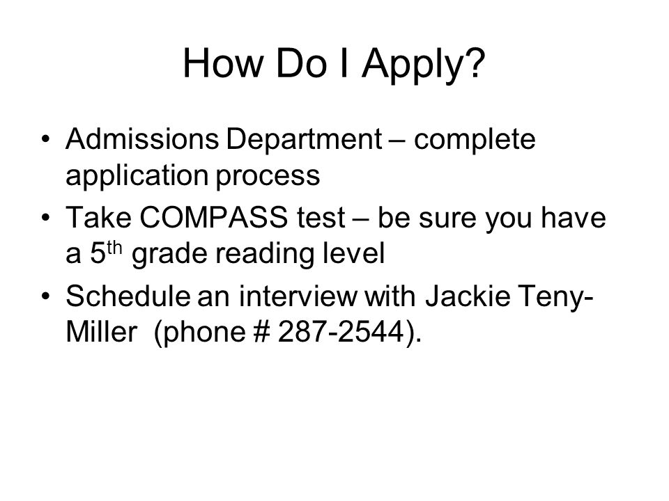 How Do I Apply Admissions Department – complete application process
