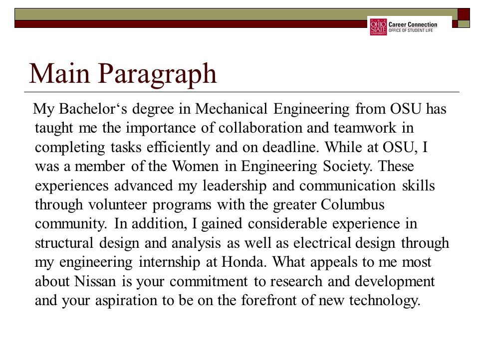 Main Paragraph
