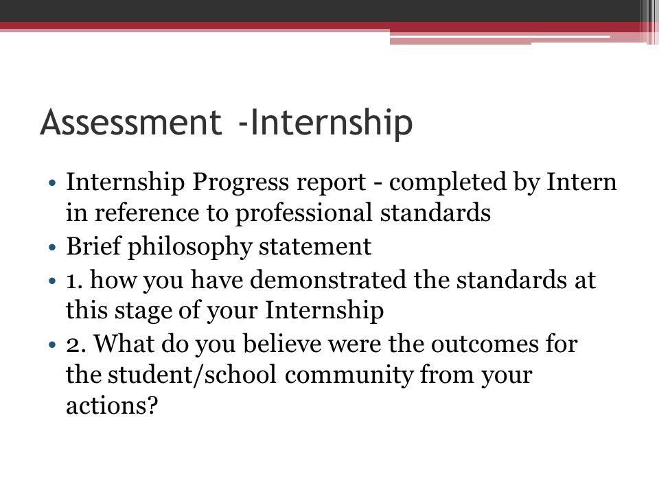 Assessment -Internship
