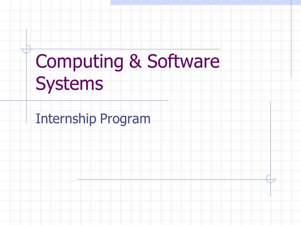 Computing & Software Systems