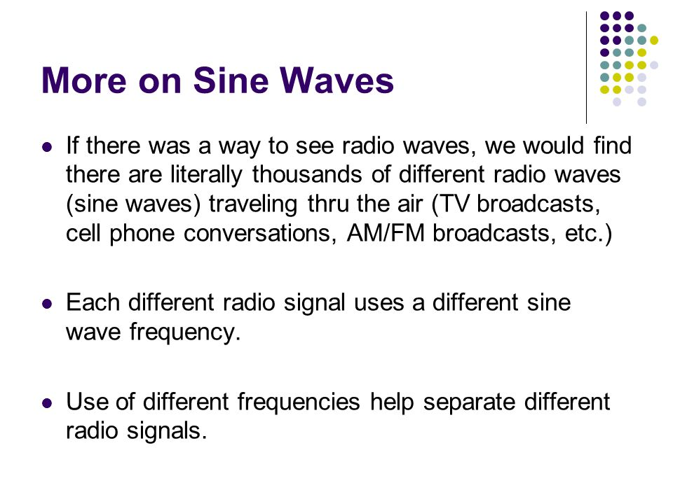 More on Sine Waves