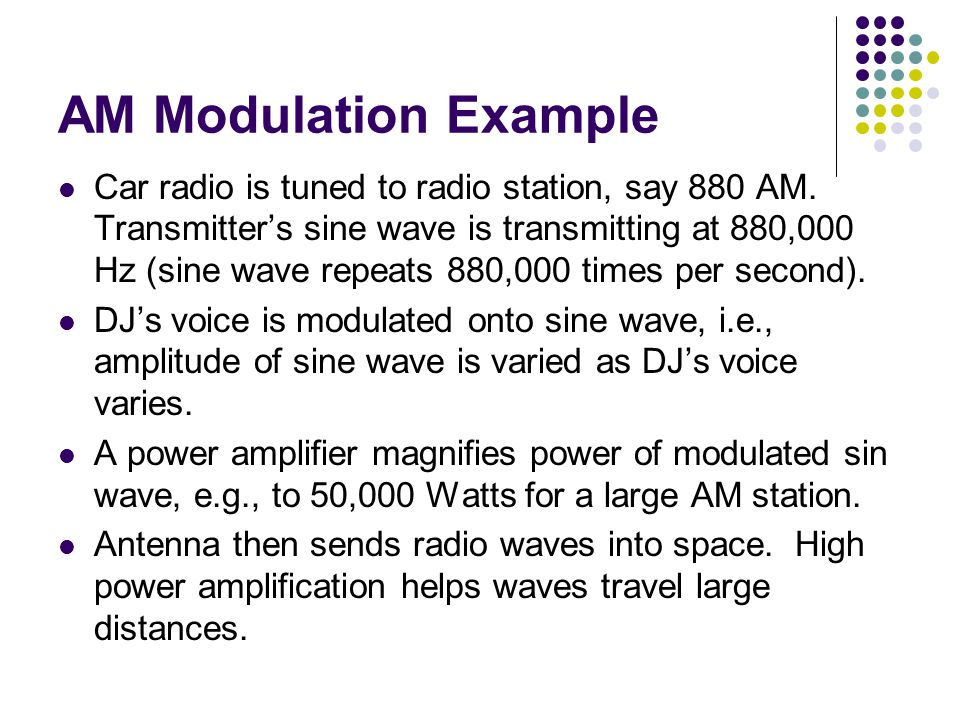 AM Modulation Example