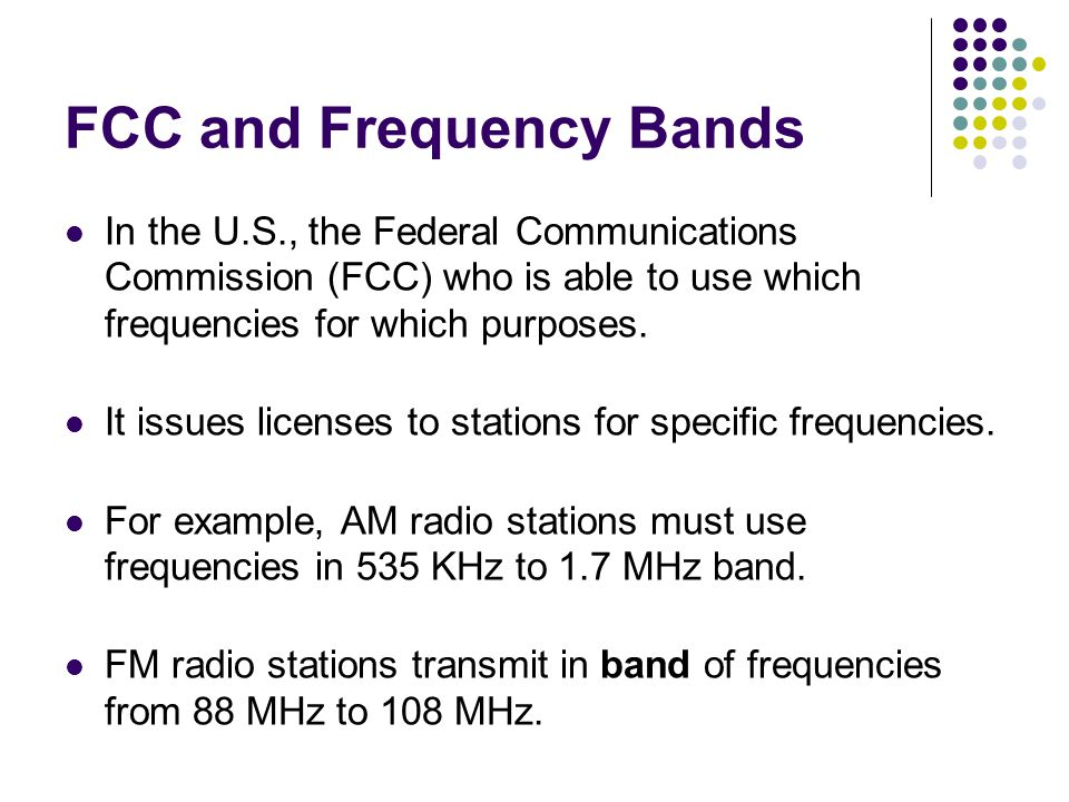 FCC and Frequency Bands