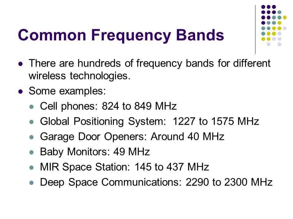Common Frequency Bands