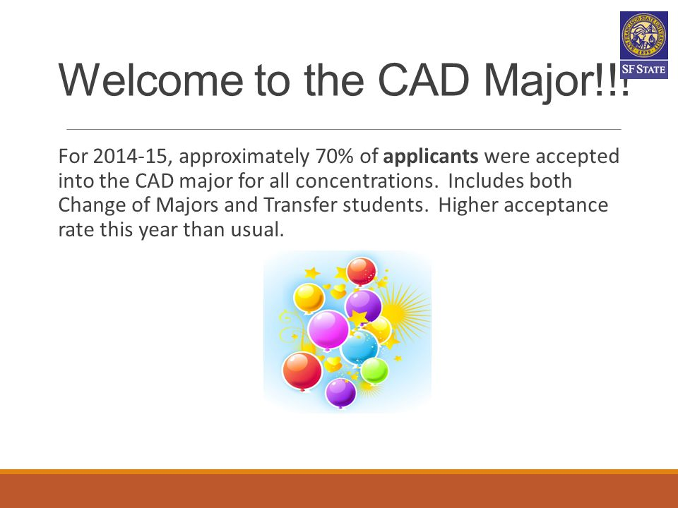 Welcome to the CAD Major!!!