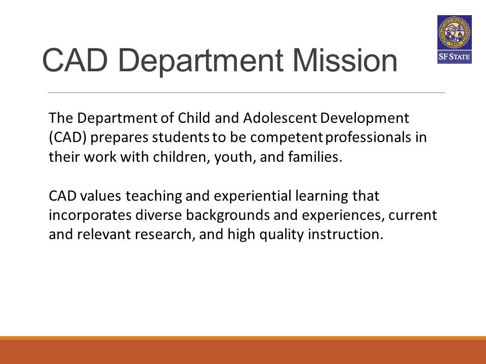 CAD Department Mission
